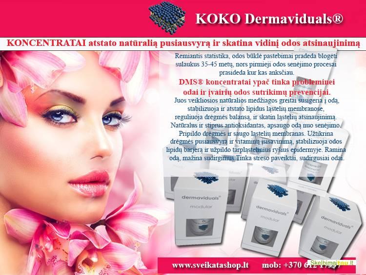 Dermaviduals® koncentratai – skatina vidinį odos atsinaujini