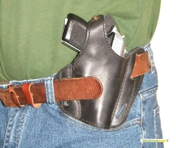 Gaminame dėklus pistoletui ir revolveriui