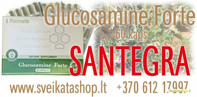 Glucosamine forte gp 60 kaps - maisto papildas santegra