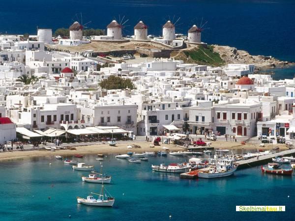 Ivairus darbo pasiulymai sauletuose graikijos kurortuose