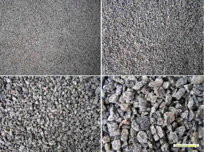 Skalda, žvyras, smėlis, atsijos, juodžemis, kaune