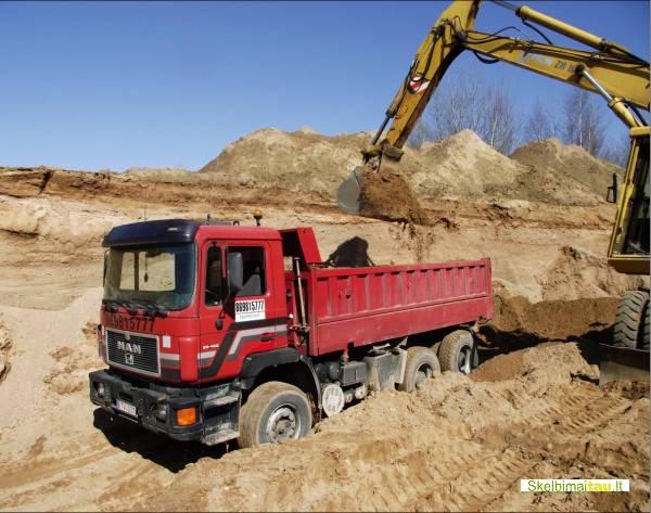 Smėlis žvyras skalda vežame 20 t 12-13 m3 kaune 8 69815777