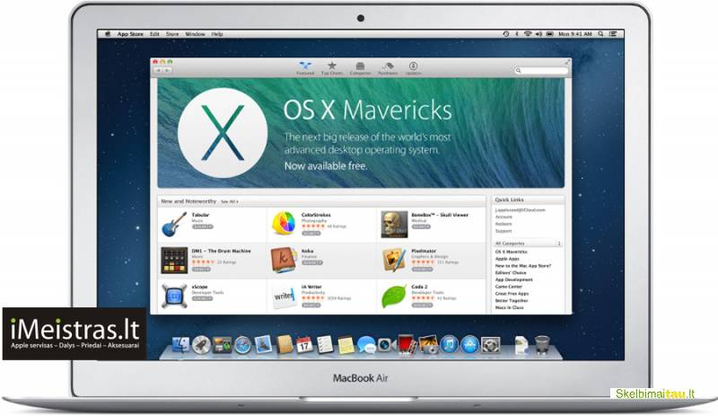 Apple macbook operacinės sistemos diegimas