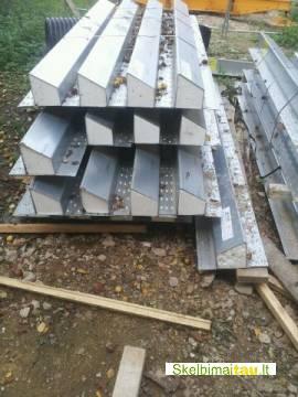 Naujos metalines sijos/saramos hd/k 350/150/3000-2400mm