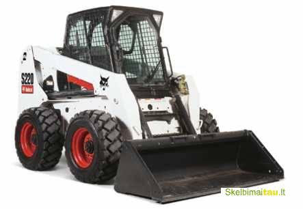 Nuomojamas krautuvas bobcat s250 su papildoma  įranga