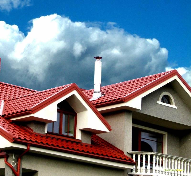 Plieninės stogų ir sienų dangos iš švediško plieno
