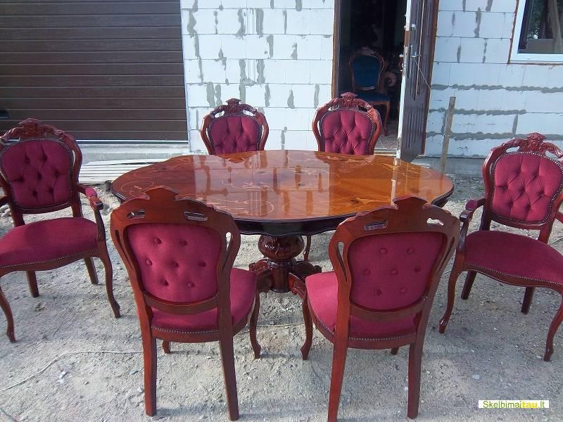 Klasikiniai stalai, sofos, indaujos, komodos