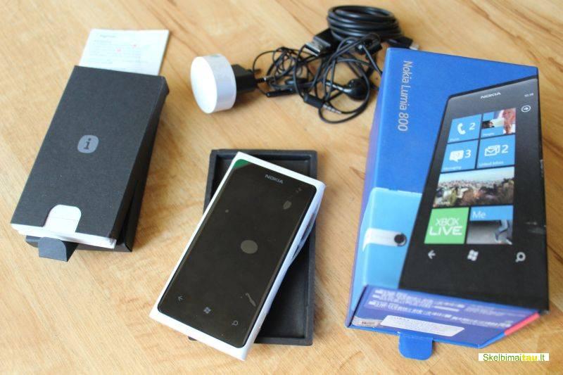 Nokia lumia 800 baltos spalvos