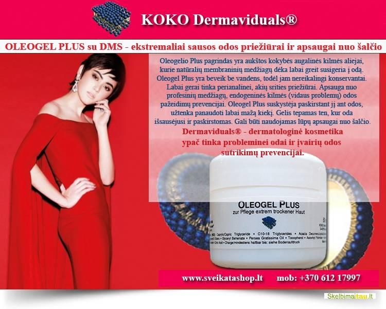Oleogel plus su dms® – ekstremaliai sausos odos priežiūrai