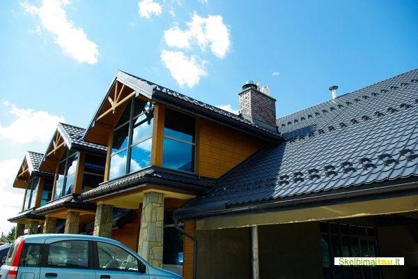 Plieninė stogo danga, šiferis, čerpės, stogo darbai
