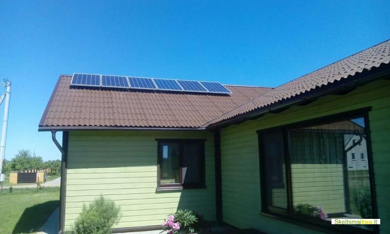 Saulės elektrinė karštam vandeniui ruošti