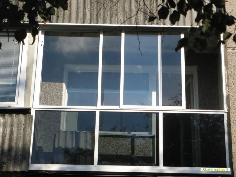 Balkonu stiklinimas bereme ir remine aliuminio profiliais si