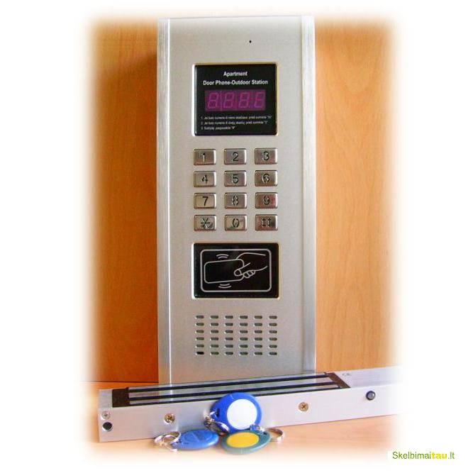 Domofonas ir telefonspynes, laiptines durys.