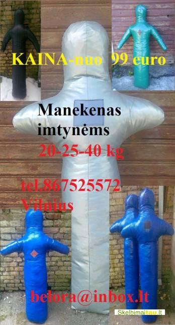 Manekenas imtynėms natūralios odos, lėlė imtynėms natūralio