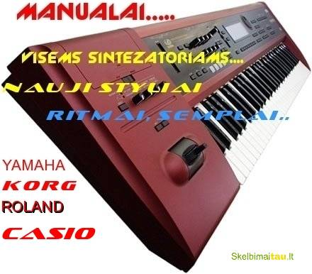 Manualai yamaha, korg , roland casio firmos instrumentam.