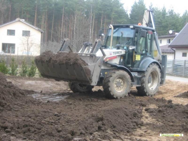 Statybinės technikos nuoma,  žemės kasimas