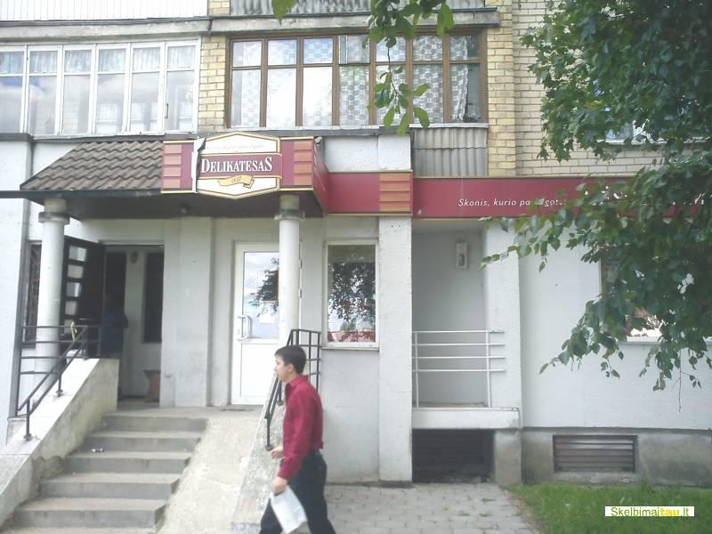 Komercinės patalpos, prekybos paskirties,radviliškio gatvėje