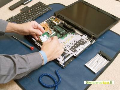 Nekrauna baterijos nešiojamo kompiuterio remontas
