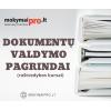 Dokumentų valdymo pagrindai nuotoliniu būdu